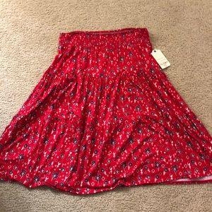 Brand new knee length red skirt